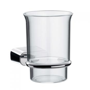 Emco Logo2 Glashalter mit Becher aus Acrylglas
