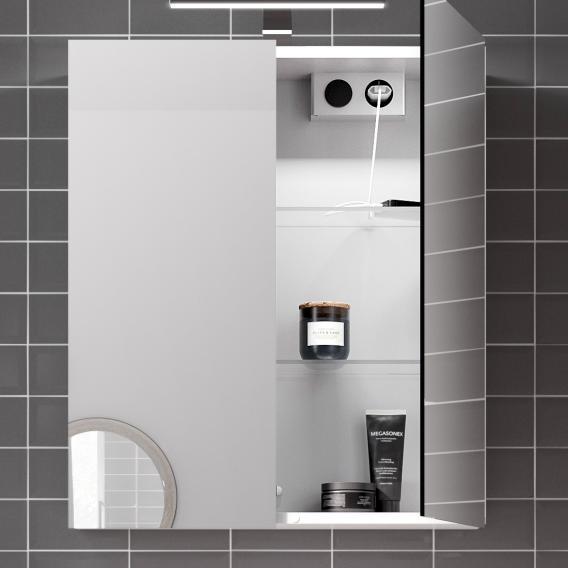 Emco Mee Aufputz LED-Lichtspiegelschrank, 2 Türen