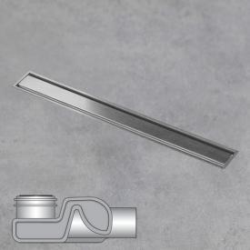 ESS Aqua Jewels Linea xs Bodenablauf inklusive Abdeckung edelstahl gebürstet, L: 20 cm