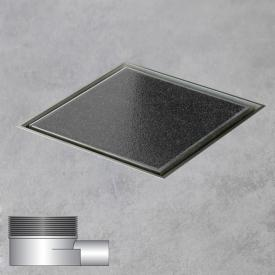 ESS Aqua Quattro Bodenablauf inklusive Abdeckung für Fliese L: 15 B: 15 cm, waagerecht