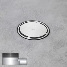 ESS Aqua Round Bodenablauf inklusive Abdeckung, waagerechter Anschluss DN40