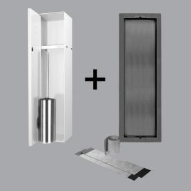 ESS Container T-ROLL Einbau WC - Bürstenhalter und Nische für Nass- und Trockenbau, befliesbar weiß
