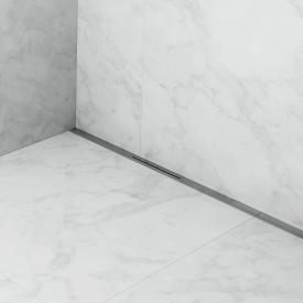 ESS R-line Waterstop Wall Komplett-Set mit vormontiertem Dichtvlies edelstahl gebürstet