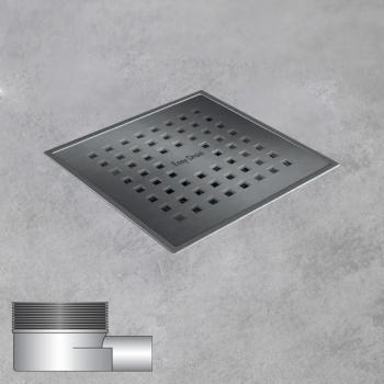 ESS Aqua Quattro Bodenablauf inklusive Abdeckung, waagerechter Anschluss DN40 L: 15 B: 15 cm