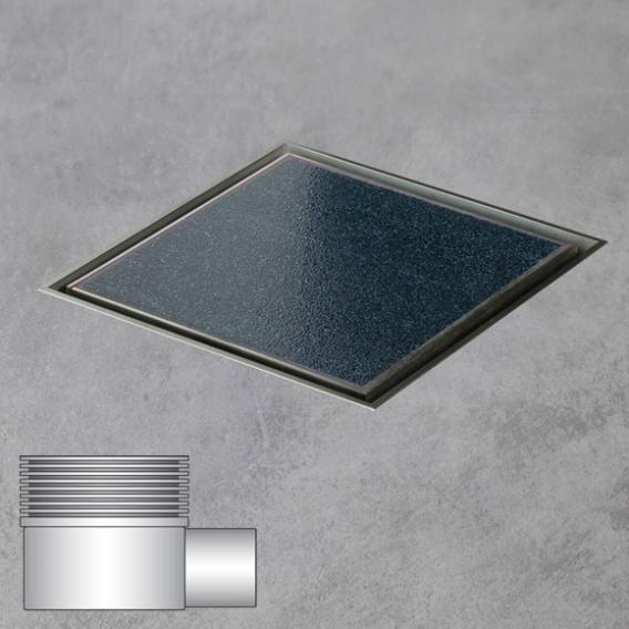 ESS Aqua Jewels Quattro Bodenablauf inklusive Abdeckung für Fliese, waagerechter Anschluss L: 15 B: 15 cm