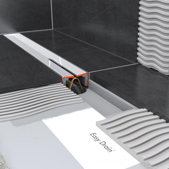 ESS R-line Waterstop Komplett-Set mit vormontiertem Dichtvlies edelstahl poliert