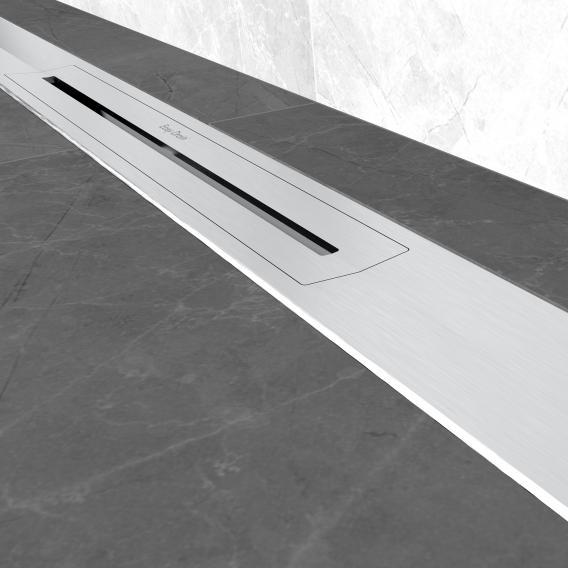 ESS R-line Waterstop Komplett-Set mit vormontiertem Dichtvlies edelstahl gebürstet