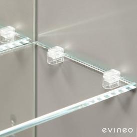 Evineo ineo Bodenträger-Set für Spiegelschrank, 8 Stück