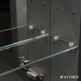Evineo ineo Glasfachboden-Set für Spiegelschrank B: 120 cm, 6 Stück