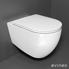 Evineo ineo Wand-Tiefspül-WC-SET, spülrandlos, mit slim WC-Sitz