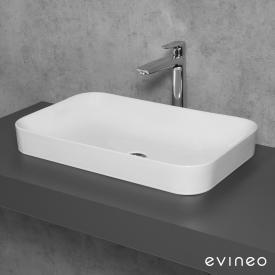 Evineo ineo3 soft Aufsatzwaschtisch B: 60 H: 11,8 T: 38 cm