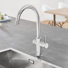 Grohe Blue Home die NEUE Küchenarmatur mit Filterfunktion, C-Auslauf chrom