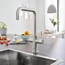 Grohe Blue Home die NEUE Küchenarmatur mit Filterfunktion, U-Auslauf supersteel
