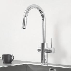 Grohe Blue Professional die NEUE Küchenarmatur mit Filterfunktion, C-Auslauf ausziehbar chrom