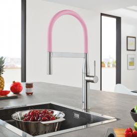 Grohe Essence GrohFlex Profi Einhand-Spültischarmatur pink