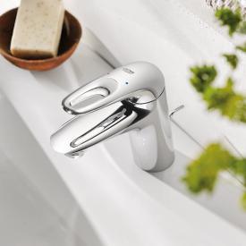 Grohe Eurostyle Einhand-Waschtischbatterie, Zero, S-Size mit Ablaufgarnitur, chrom