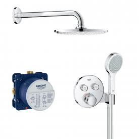 Grohe Grohtherm SmartControl Duschsystem mit Thermostat & Rainshower Cosmopolitan 210 Kopfbrause
