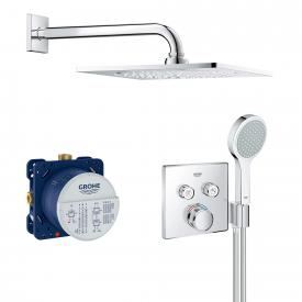 "Grohe Grohtherm SmartControl Duschsystem mit Thermostat & Rainshower F-Series 10"" Kopfbrause"
