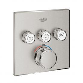 Grohe Grohtherm SmartControl Thermostat mit 3 Absperrventilen supersteel