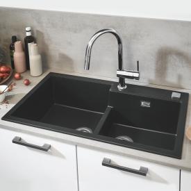 Grohe K500 Einbauspüle granit schwarz