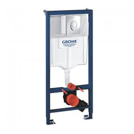 Grohe Rapid SL Set 2 in 1 Montageelement für WC, H: 113 cm, Spülkasten GD 2 mit Drückerplatte