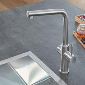 Grohe Red die NEUE Küchenarmatur mit Filterfunktion für kochend heißes Wasser, L-Auslauf supersteel