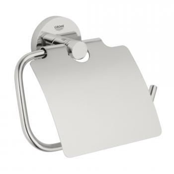 Grohe Essentials WC-Papierhalter mit Deckel supersteel