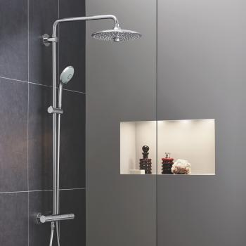 Grohe Euphoria System 260 Duschsystem mit Thermostatbatterie für Wandmontage