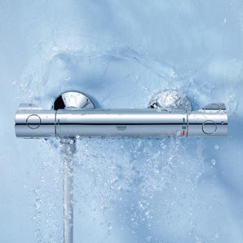Grohe Grohtherm 800 Thermostat-Brausebatterie, für Wandmontage