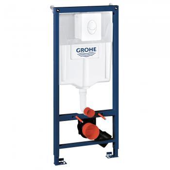 Grohe Rapid SL 3 in 1-Set Montageelement, H: 113 cm, für WC Spülkasten GD 2 mit Drückerplatte weiß