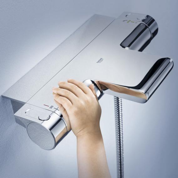 Grohe Grohtherm 2000 Thermostat-Wannenbatterie, DN15 für Wandmontage mit Duschablage