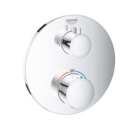 Grohe Grohtherm Thermostat-Brausebatterie mit 2-Wege-Umstellung rund, für Rapido SmartBox