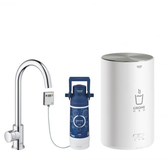 Grohe Red MONO die NEUE Küchenarmatur mit Filterfunktion für kochend heißes Wasser, C-Auslauf chrom
