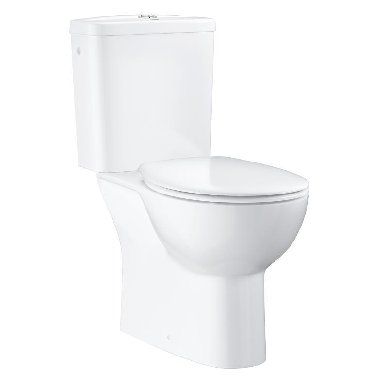 Extrem Grohe Bau Keramik Stand-WC-Kombination, Abgang senkrecht QD36