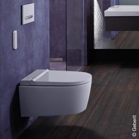 Geberit AquaClean Sela Wand-Dusch-WC Komplettanlage, mit WC-Sitz weiß