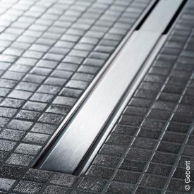 Geberit CleanLine 60 Duschrinne für dünne Bodenbeläge edelstahl poliert, für Duschrinne: 30 - 130 cm