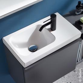 Geberit iCon Light Handwaschbecken mit Ablagefläche weiß, mit KeraTect, mit 1 Hahnloch