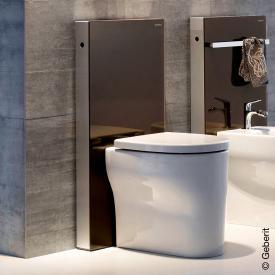 Geberit Monolith Sanitärmodul für Stand-WC H: 101 cm, Glas umbra