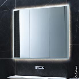 Geberit ONE Spiegelschrank mit LED-Beleuchtung mit 3 Türen