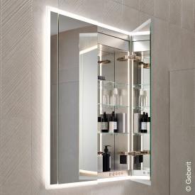 Geberit ONE Spiegelschrank mit LED-Beleuchtung mit 2 Türen
