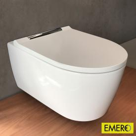 Geberit ONE Wand-Tiefspül-WC mit WC-Sitz chrom, mit KeraTect