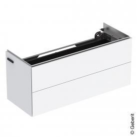 Geberit ONE Waschtischunterschrank mit 2 Auszügen weiß