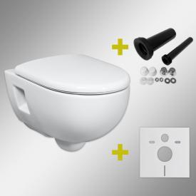 Geberit Renova & Tellkamp Premium 3000 Wand-WC-SET mit Montagezubehör, ohne Spülrand: WC-Sitz mit Absenkautomatik