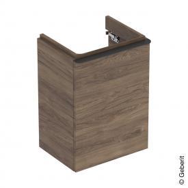 Geberit Smyle Square Handwaschbecken-Unterschrank mit 1 Tür nussbaum