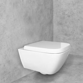 Geberit Smyle Square Wand-Tiefspül-WC & Tellkamp Premium 8000 WC-Sitz SET weiß