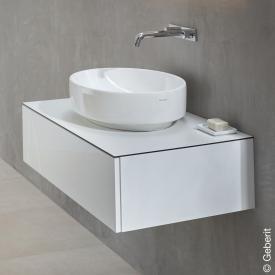 Geberit VariForm Waschtischunterschrank für Aufsatzwaschtisch mit 1 Auszug Front weiß hochglanz / Korpus weiß hochglanz