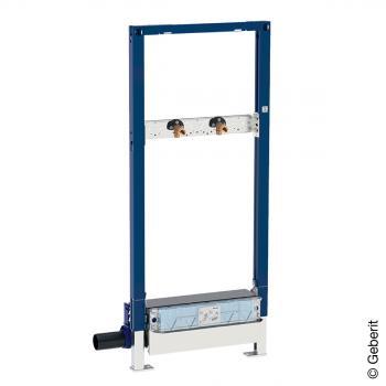 Geberit Duofix Element für Dusche, H: 130 cm, mit Wandablauf, Wandarmatur AP, Ø 40 mm