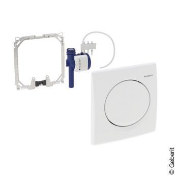 Geberit HyBasic Urinalsteuerung, pneumatisch weiß alpin