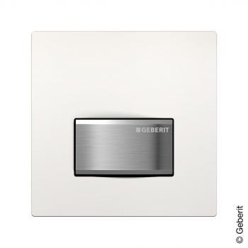 Geberit HyTouch Urinal-Handauslösung pneumatisch, Sigma50 Design weiß/chrom gebürstet