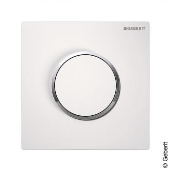 Geberit Sigma 10 Urinal-Handauslösung  pneumatisch weiß/chrom/weiß